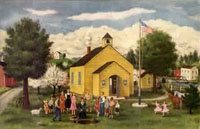 an old schoolhouse image
